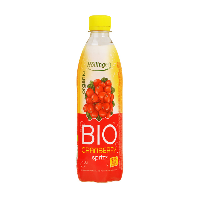 Limonáda brusnica 500ml, Hollinger, BIO